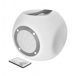 TRUST Lara Wireless Bluetooth speaker with multi-colour party lights - white