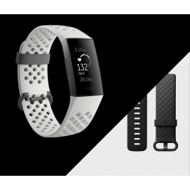 Fitbit Charge 3 Special Edition (NFC) - Graphite / White Silicone