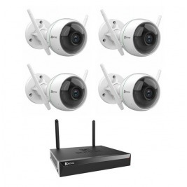 EZVIZ 4 Channels Wireless Security Kit, X5S + 4x C3WN