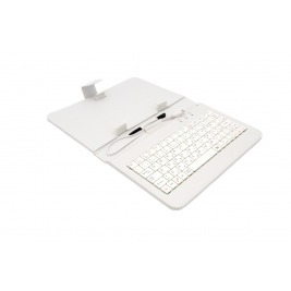 """AIREN AiTab Leather Case 1 with USB Keyboard 7"""" WHITE (CZ/SK/DE/UK/US.. layout)"""
