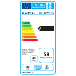 Sony 32'' LED TV KDL-32WD755 /DVB-T2,C,S2/XR200Hz/