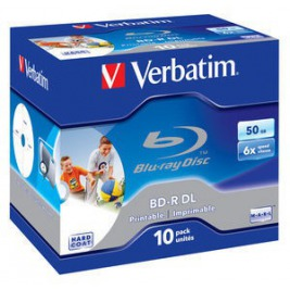 VERBATIM BD-R DL (6x, 50GB), 10ks/pack